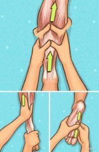 Legs massage method for slimming